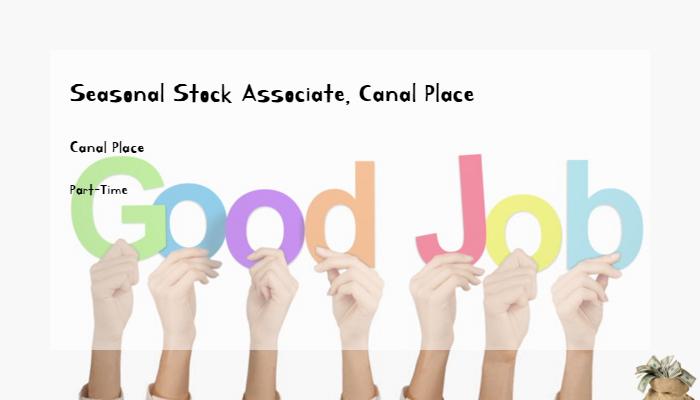 Seasonal Stock Associate, Canal Place Michael Kors Canal Place ...