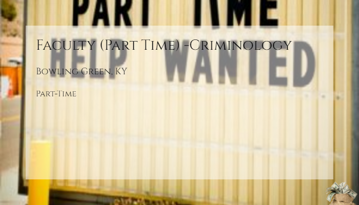 Faculty Part Time Criminology Western Kentucky University Bowling