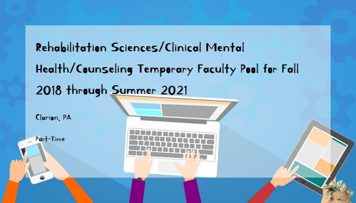 Rehabilitation Sciences Clinical Mental Health Counseling Temporary