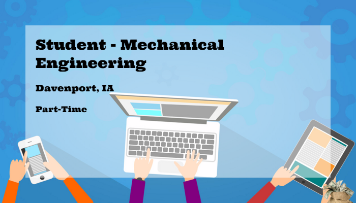 Student Mechanical Engineering John Deere Davenport Ia Part