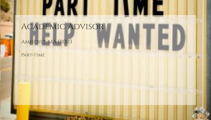 Academic Advisor University Of Massachusetts Amherst Amherst Ma