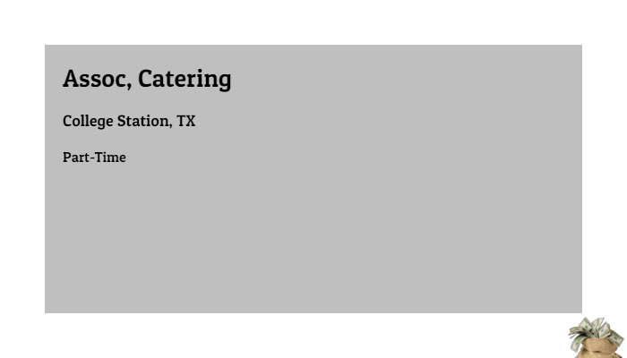 Assoc Catering Compass Group College Station Tx Part Time Jobs