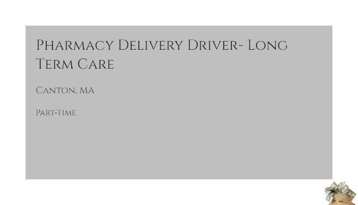 pharmacy delivery driver long term care cvs health canton ma