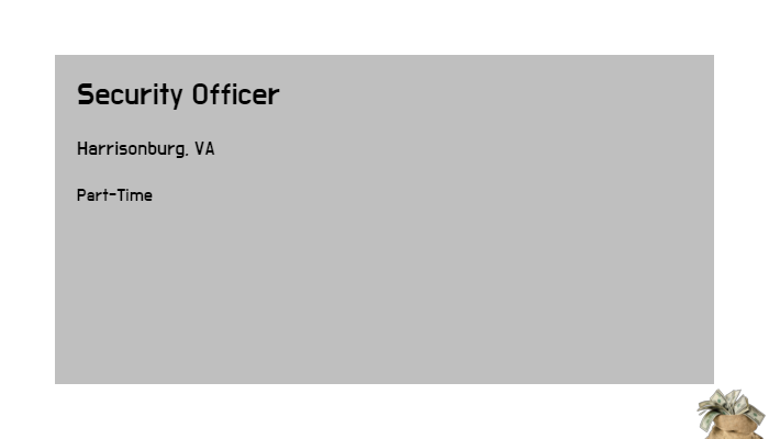Security Officer Securitas Harrisonburg Va Part Time Jobs 2019