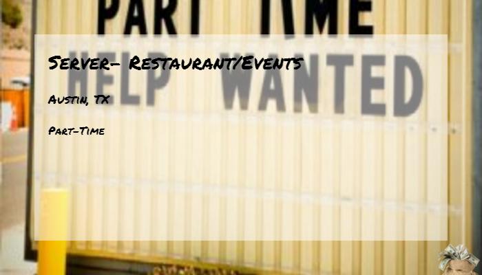 Server Restaurantevents Hyatt Austin Tx Part Time Jobs 2019