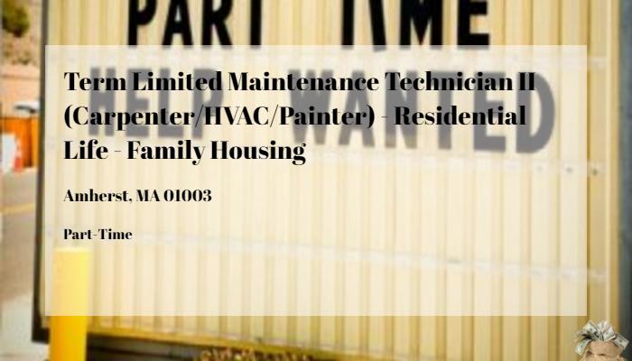 Term Limited Maintenance Technician Ii Carpenterhvacpainter