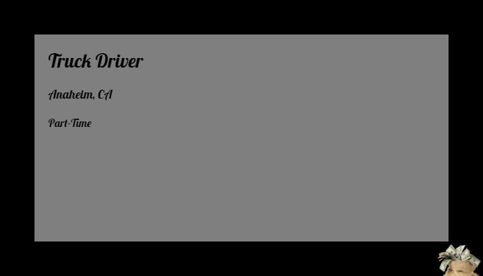 Truck Driver Ajr Trucking Anaheim Ca Part Time Jobs 2019 Hiring