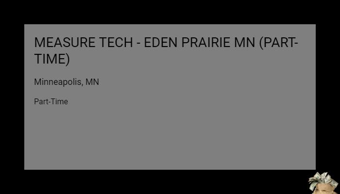 Measure Tech Eden Prairie Mn Part Time The Home Depot