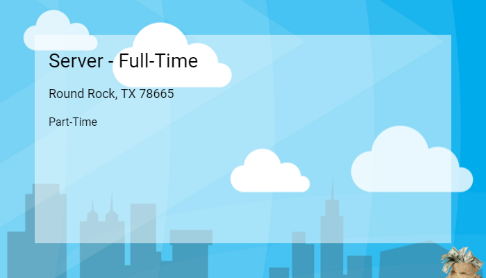 Server Full Time The Enclave At Round Rock Senior Living Round