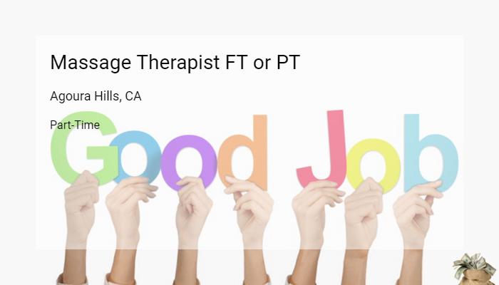 Massage Therapist FT Or PT Envy Agoura Hills CA