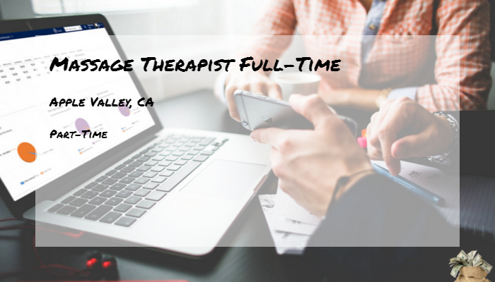Massage Therapist Full Time Envy Apple Valley CA