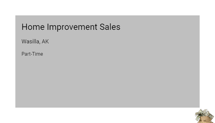 Home Improvement Sales Sears Wasilla Ak Part Time Jobs