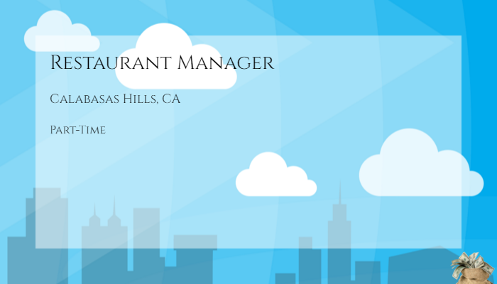Restaurant Manager The Cheesecake Factory Calabasas Hills ...
