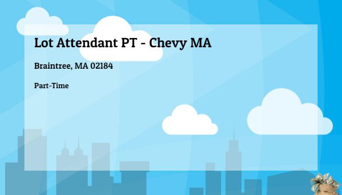 Chevy Dealers In Ma >> Lot Attendant Pt Chevy Ma Quirk Auto Dealers Braintree Ma 02184