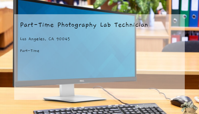 Part Time Photography Lab Technician Otis College Of Art And